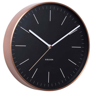 Karlsson Minimal Copper Clock, Black