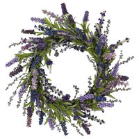 20 in. Lavender Wreath in Green and Purple