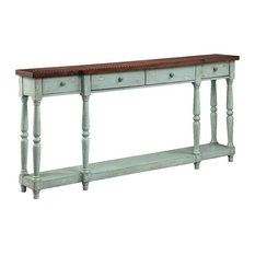 Simpson 4-Drawer Console In Blue (13136)