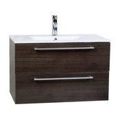 "ConcepBaths Caen 32"" Wall-Mount Bathroom Vanity Set, Gray Oak"