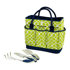 Gardening Tote With Tools, Trellis Green