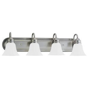 Sea Gull Lighting 4-Light Gladst1 Sconce, Brushed Nickel