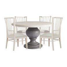 Paula Deen Home Bungalow 5-Piece Round Dining Table Set, Bluff #636