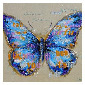 """""""PapilioHyacintho"""" Acrylic Painting, 100x100 cm"""