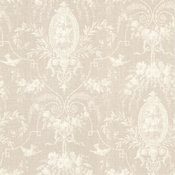 Beacon House by Brewster 302-66818 Flourish Taupe Cameo Fleur Wallpaper