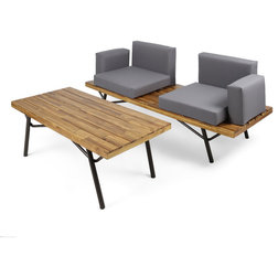 Industrial Outdoor Lounge Sets by GDFStudio