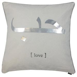 Hob Metallic Cushion Cover, White and Silver