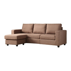 Nathaniel Home - Alexandra Convertible Sectional Brown - Sectional Sofas