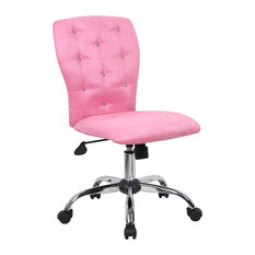 Bay   Loma Microfiber Rolling Office Chair, Pink   Office Chairs