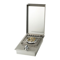 Bull Outdoor Products - Side Burner LP, Stainless Steel - Grill Tools & Accessories