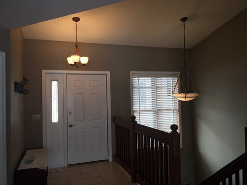 Lighting Over Stairs And Front Door.