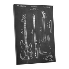 50 most popular industrial prints and posters for 2018 houzz pingoworld fender bass guitar patent blueprint gallery wrapped canvas wall art 20 malvernweather Gallery