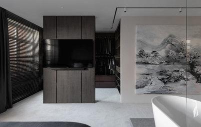 Проект недели: Спальня с ванной в центре комнаты