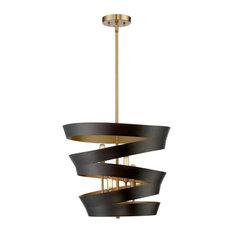 Trade Winds Ribbon 4-Light Pendant Light in Matte Black