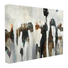 """Black White And Brown Rocks Oversized Canvas, 24""""x1.5""""x30"""""""