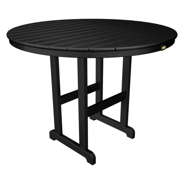 """Outdoor Monterey Bay 48"""" Counter Table, Charcoal Black"""