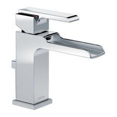 Delta Ara Single-Lever Handle Faucet With Channel Spout, Polished Chrome