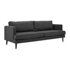 Admire Upholstered Fabric Sofa/Gray