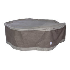 """Duck Covers Elegant 76"""" Round Patio Table and Chair Set Cover"""