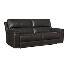 Gable Leather Power 2 Over 2 Sofa With Power Headrest