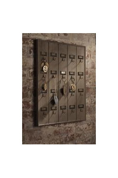 Cool Functional as well as decorative rustic key holder http storenvy products hotel key rack rustic reclaimed wood wall decor