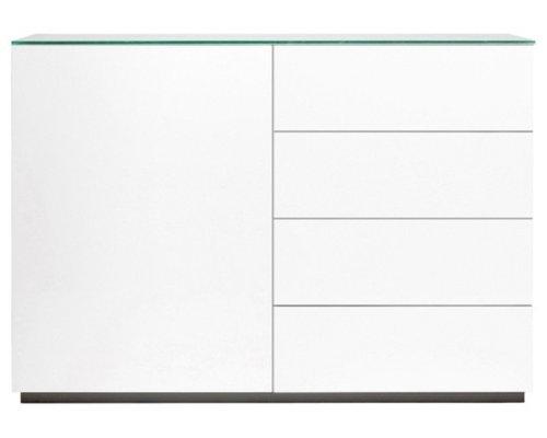 Arctic 50 Sideboard 4L & 1D, Vit - Kommoder