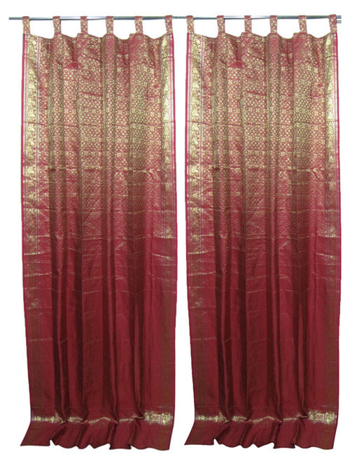Indian-Style Silk Curtains Home Design Ideas - Curtains