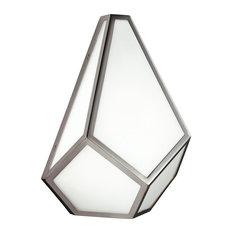 Diamond Wall Light, Polished Nickel