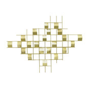 Mavrick Metal Wall Decor, Gold