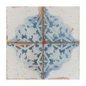 """SomerTile 13""""x13"""" Artisan Ceramic Floor/Wall Tile, Case of 10, Azul Decor"""