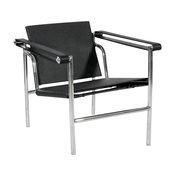 Basculant Sling Chair, Black Saddle Leather