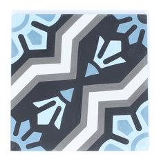 "8""x8"" Blue Lagoon Cement Tile"