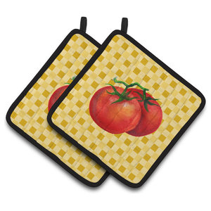 squash set of 2 pepper and carrots Vegetable potholders including tomato