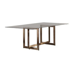 Modrest Keaton Modern Glass And Brass Dining Table