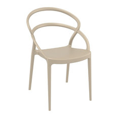 Compamia Pia Set of 2 Dining Chair, Taupe