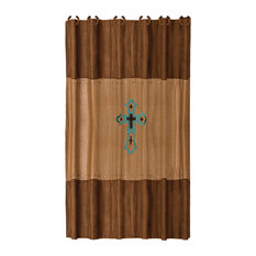 """Las Cruses Embroidered Shower Curtain, 72""""X72"""""""