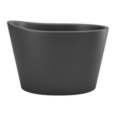 Aquatica True Ofuro Black Freestanding Stone Japanese Soaking Bathtub