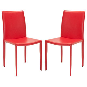 Safavieh Brody Accent Chairs, Set of 2, Red