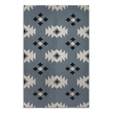 Zara Trellis Blue Flat-Weave Rug 3'x5'