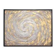 Modern Rectangular Wooden Framed Abstract Painting on Canvas Wall Art