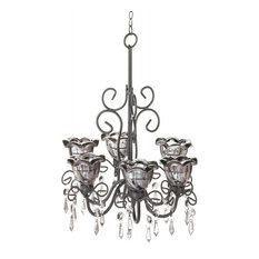 50 most popular black candle style chandeliers for 2018 houzz gallery of light midnight blooms chandelier chandeliers aloadofball Choice Image