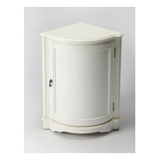 Butler Specialty Company - Durham Corner Cabinet - White - Accent Chests and Cabinets