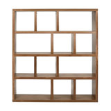 Berlin 4-Level Display Unit, Walnut, Wide