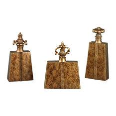 Sterling Chestnut Finials, 3-Piece Set