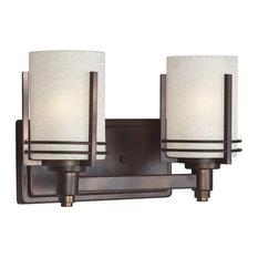 50 most popular craftsman bathroom vanity lights for 2018 houzz forte lighting inc signature 2 light bathroom vanity lights antique bronze aloadofball Choice Image