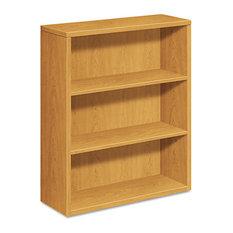 Hon 10500 Series Laminate Bookcase 3-Shelf 36-inchX13-1/8-inchX43-3/8-inch Harvest