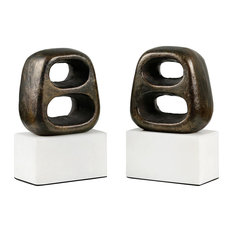 Delphi Bookends, Set of 2, Bronze