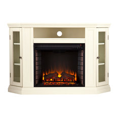 Lincoln Convertible Media Electric Fireplace Ivory