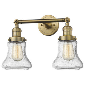 Innovations Bellmont 2-Light Dimmable LED Bathroom Fixture, Brushed Brass