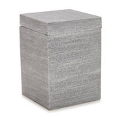 Slate Gray Resin Cotton Jar